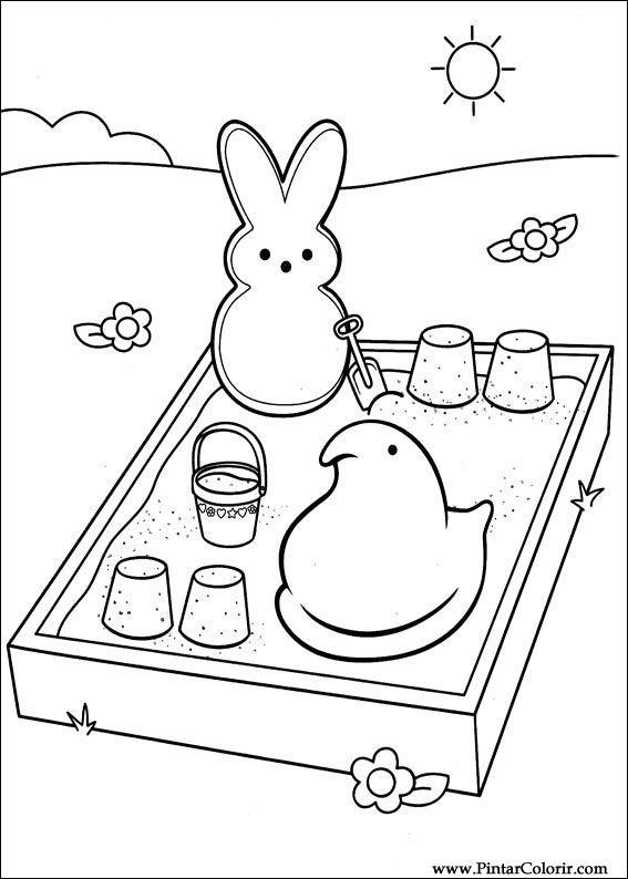 Pintar e Colorir Peeps - Desenho 002