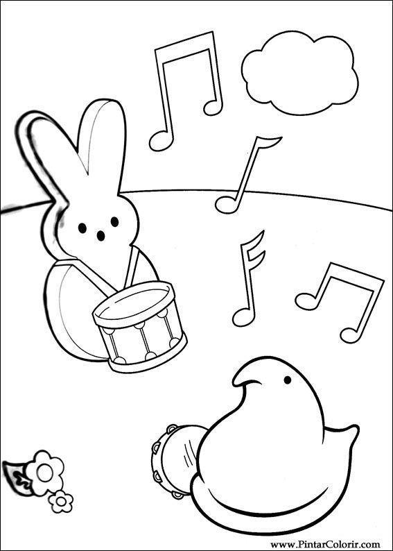 Pintar e Colorir Peeps - Desenho 006
