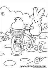 Pintar e Colorir Peeps - Desenho 009