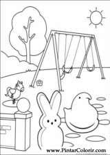 Pintar e Colorir Peeps - Desenho 012