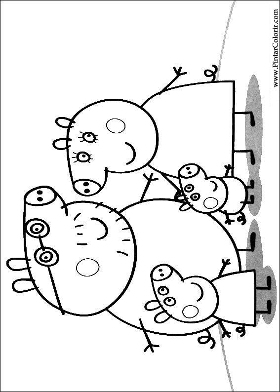 Desenhos Para Pintar E Colorir Peppa Pig Imprimir Desenho 001
