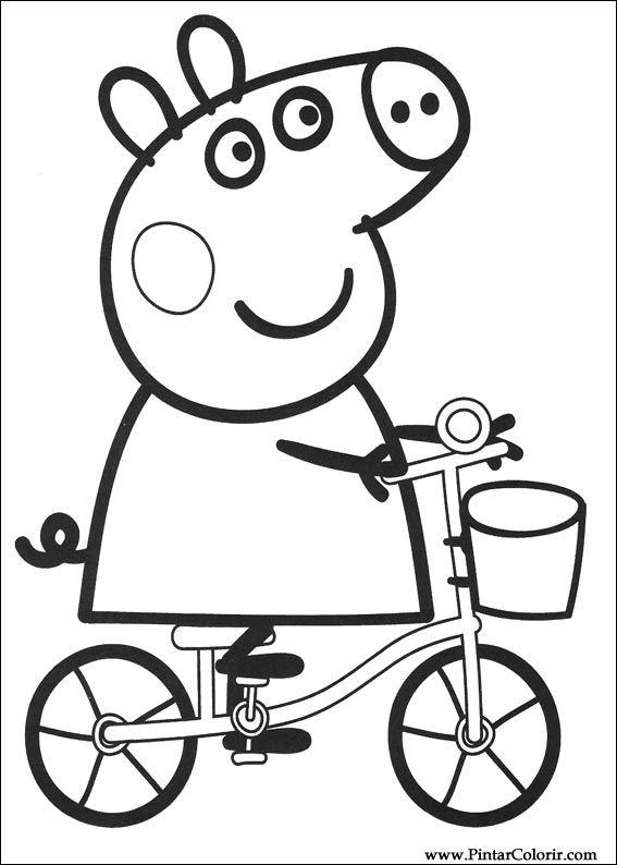 Desenhos Para Pintar E Colorir Peppa Pig Imprimir Desenho 002