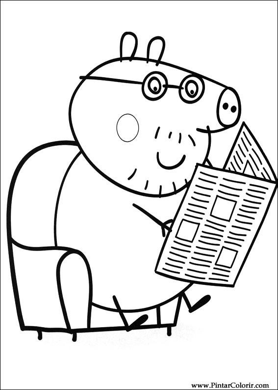 Disegni Per Dipingere Colour Peppa Pig Stampare Realizzazione 004
