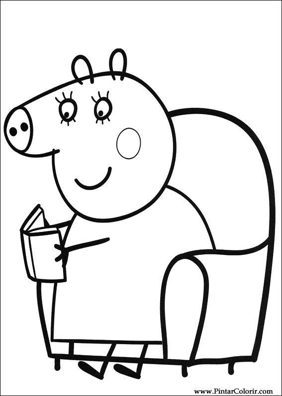 desene pentru paint și culoare peppa pig print design 005