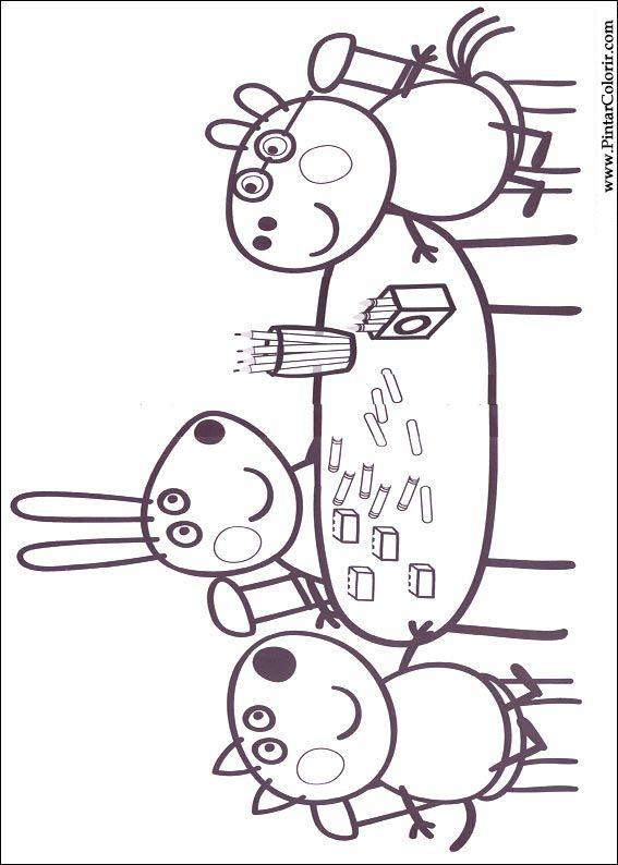 Pintar e Colorir Peppa Pig - Desenho 006