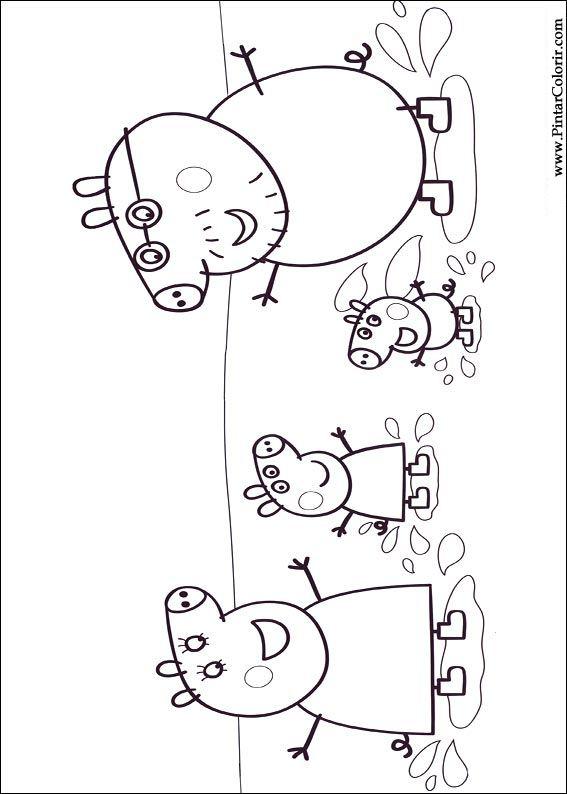 Dessins De Peindre Et Couleur Peppa Pig Imprimer