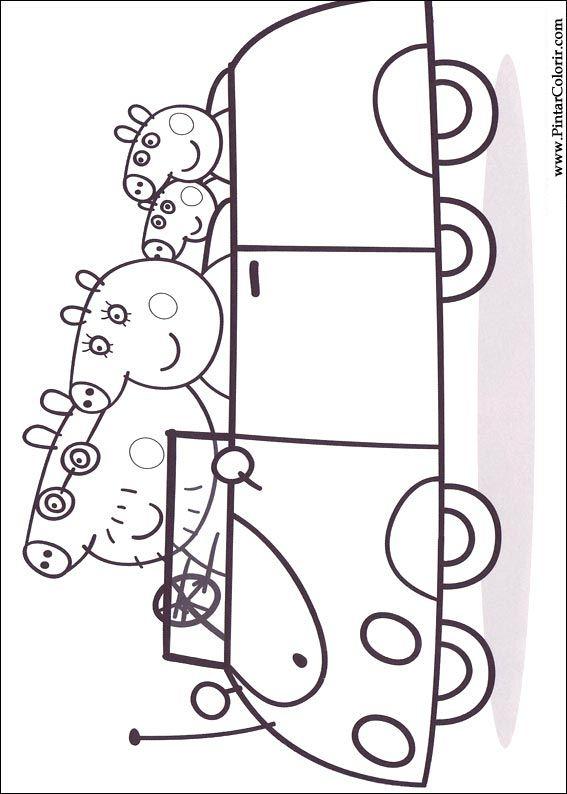 Desenhos Para Pintar E Colorir Peppa Pig Imprimir Desenho 011