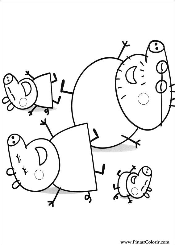 Desenhos Para Pintar E Colorir Peppa Pig Imprimir Desenho 013