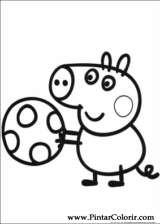 Pintar e Colorir Peppa Pig - Desenho 003