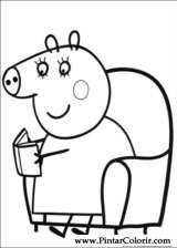 Pintar e Colorir Peppa Pig - Desenho 005
