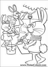 Pintar e Colorir Peter Cottontail - Desenho 001