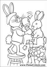 Pintar e Colorir Peter Cottontail - Desenho 002