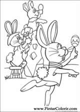 Pintar e Colorir Peter Cottontail - Desenho 003