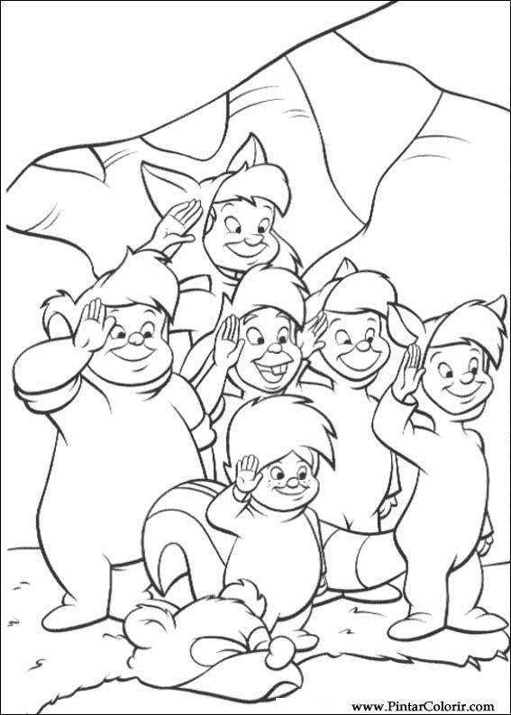 Dibujos para pintar y Color Peter Pan 2 - Diseño de impresión 019