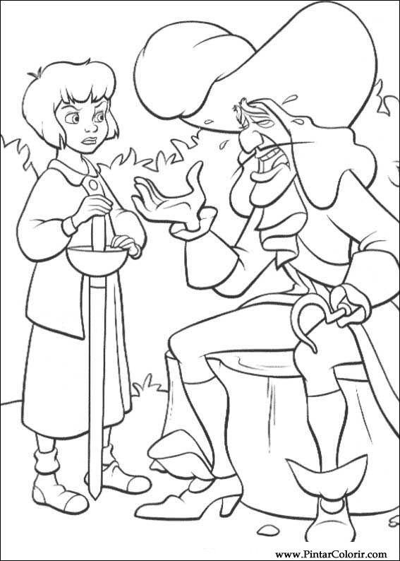Dibujos para pintar y Color Peter Pan 2 - Diseño de impresión 028
