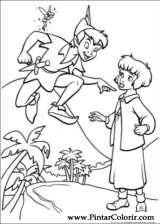 Pintar e Colorir Peter Pan 2 - Desenho 007