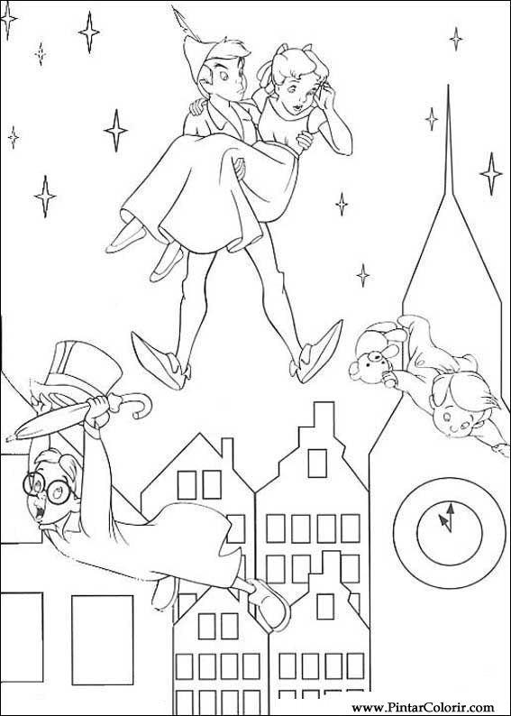 Pintar e Colorir Peter Pan - Desenho 001