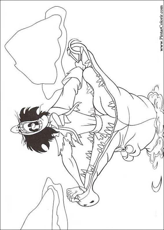 Pintar e Colorir Peter Pan - Desenho 004