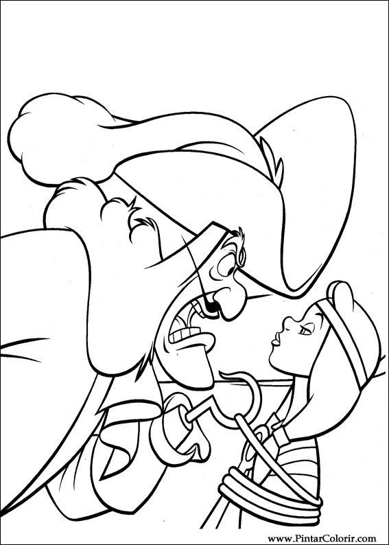 Pintar e Colorir Peter Pan - Desenho 014