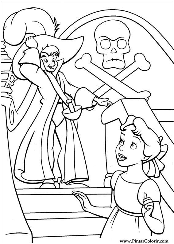 Desenhos Para Pintar E Colorir Peter Pan Imprimir Desenho 028