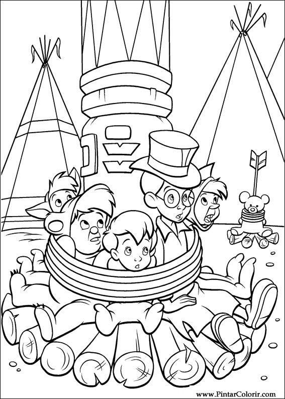 Desenhos Para Pintar E Colorir Peter Pan Imprimir Desenho 044