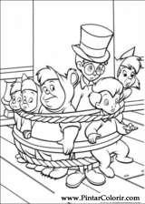 Pintar e Colorir Peter Pan - Desenho 023