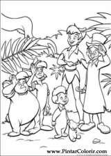 Pintar e Colorir Peter Pan - Desenho 043
