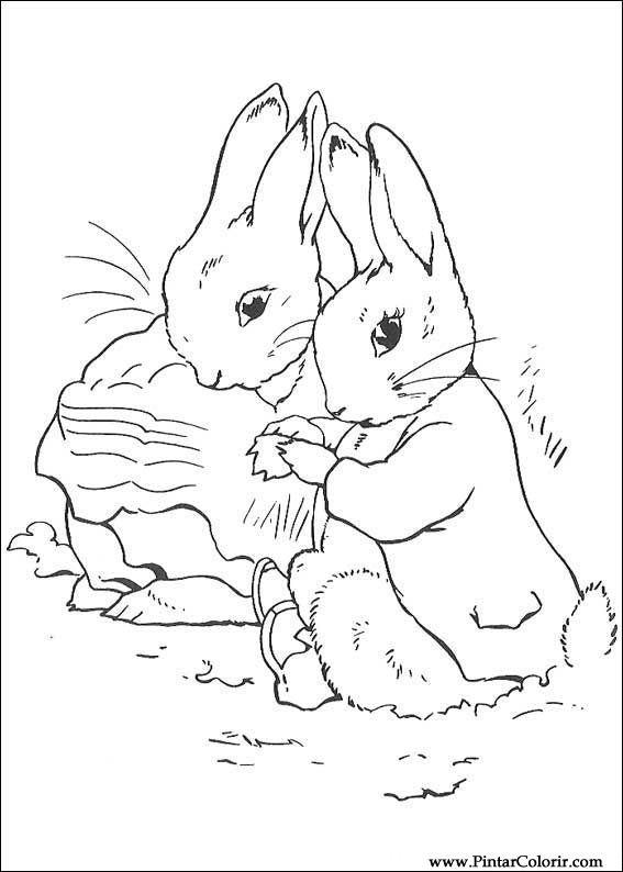 Desenhos Para Pintar E Colorir Peter Rabbit Imprimir Desenho 013
