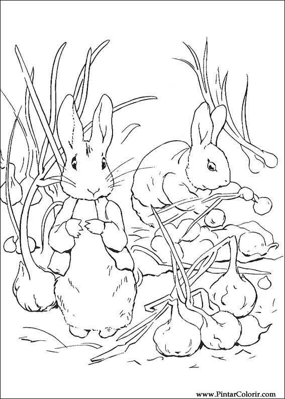 Desenhos Para Pintar E Colorir Peter Rabbit Imprimir Desenho 014