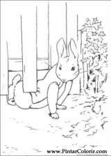 Pintar e Colorir Peter Rabbit - Desenho 001
