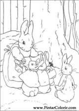 Pintar e Colorir Peter Rabbit - Desenho 009