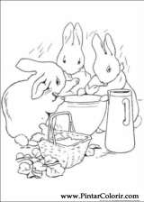Pintar e Colorir Peter Rabbit - Desenho 011