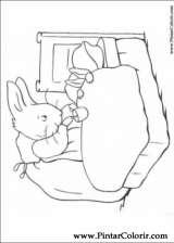 Pintar e Colorir Peter Rabbit - Desenho 012
