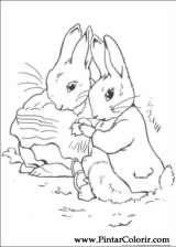 Pintar e Colorir Peter Rabbit - Desenho 013