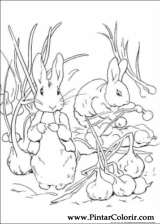 Pintar e Colorir Peter Rabbit - Desenho 014