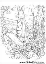 Pintar e Colorir Peter Rabbit - Desenho 016