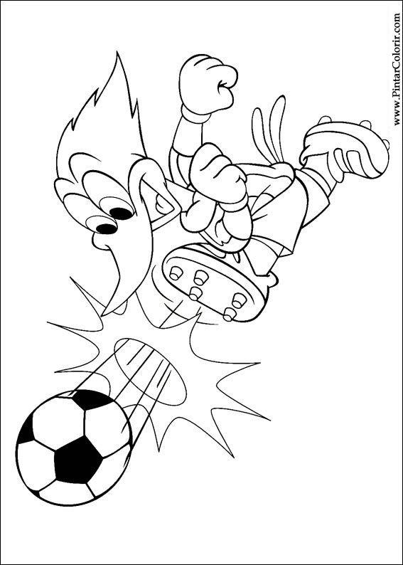 Desenhos Para Pintar E Colorir Pica Pau Imprimir Desenho 013