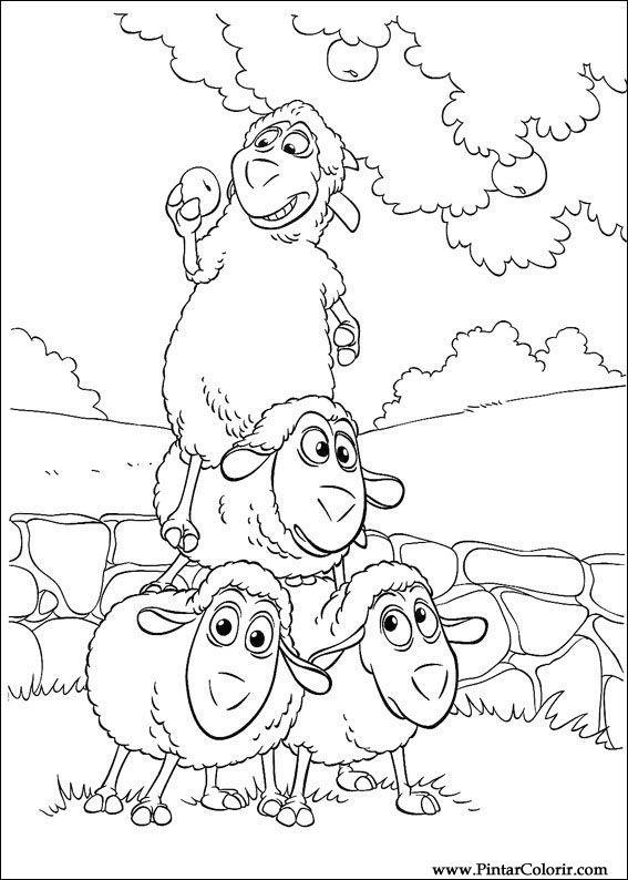 Dibujos para pintar y Color Piggley Winks - Diseño de impresión 008