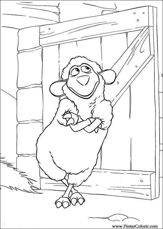çizimler Boya Ve Renk Piggley Winks Için Baskı Tasarım 018