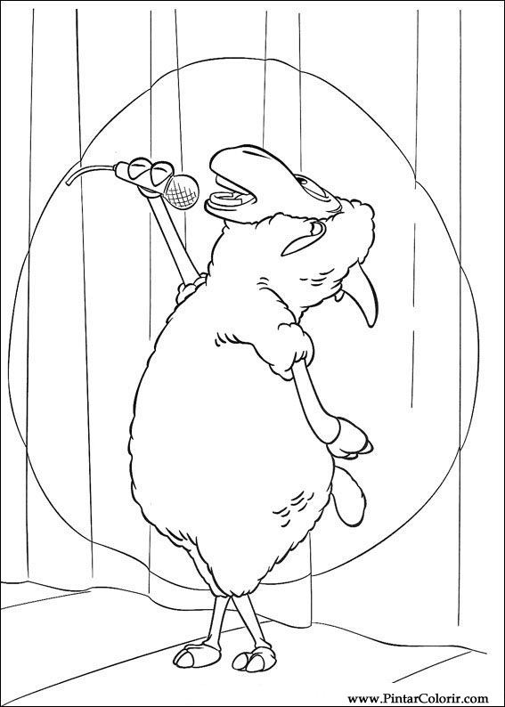 çizimler Boya Ve Renk Piggley Winks Için Baskı Tasarım 021