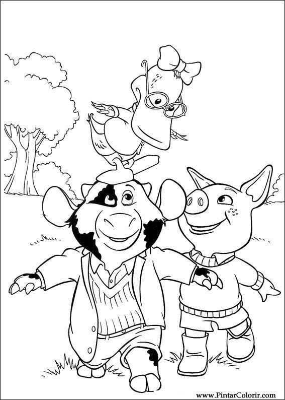 Dibujos para pintar y Color Piggley Winks - Diseño de impresión 022