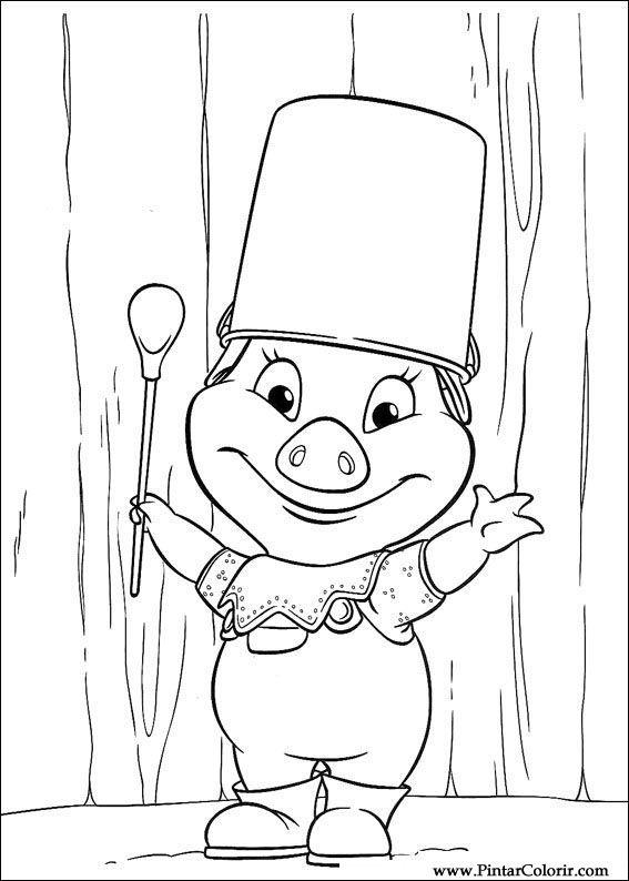 çizimler Boya Ve Renk Piggley Winks Için Baskı Tasarım 023