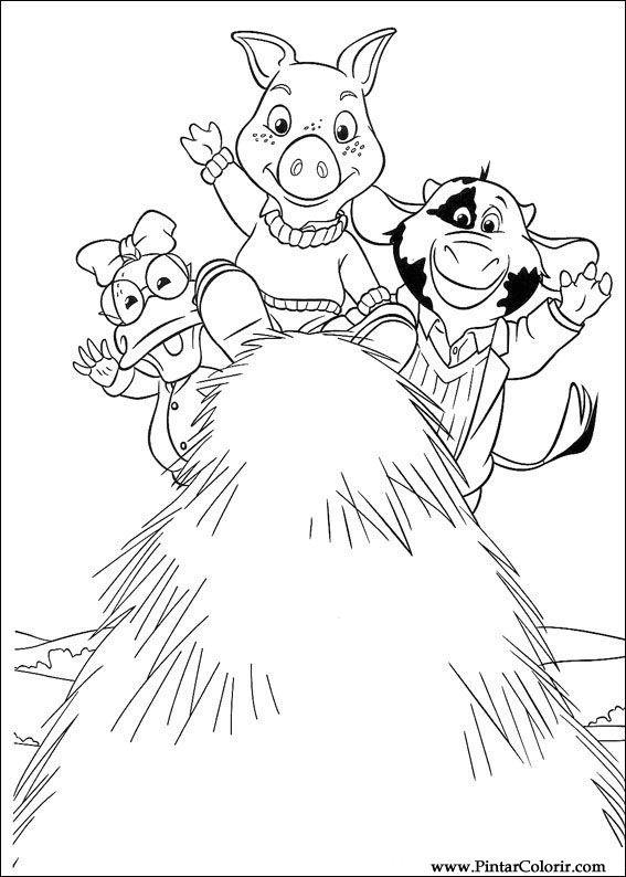 çizimler Boya Ve Renk Piggley Winks Için Baskı Tasarım 028
