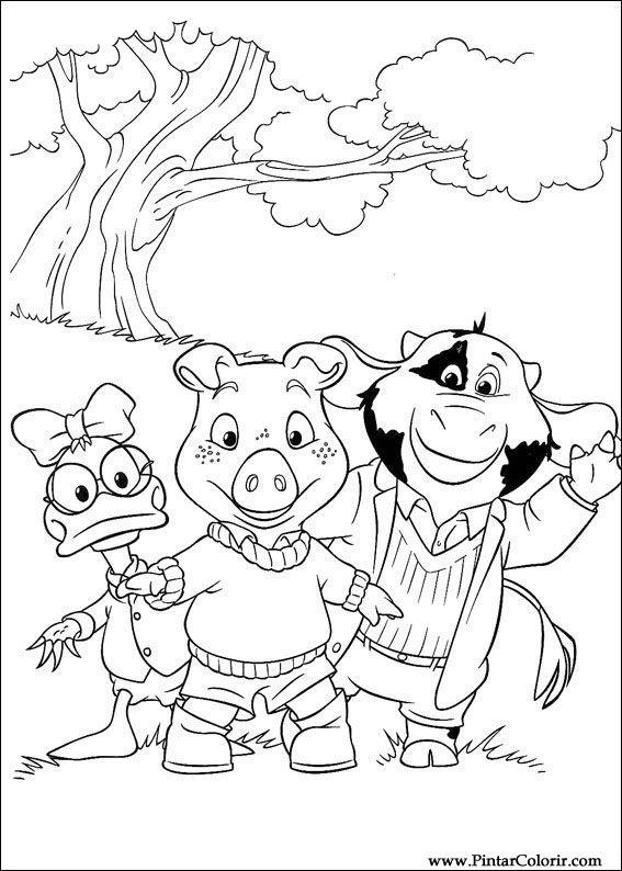 Dibujos para pintar y Color Piggley Winks - Diseño de impresión 030
