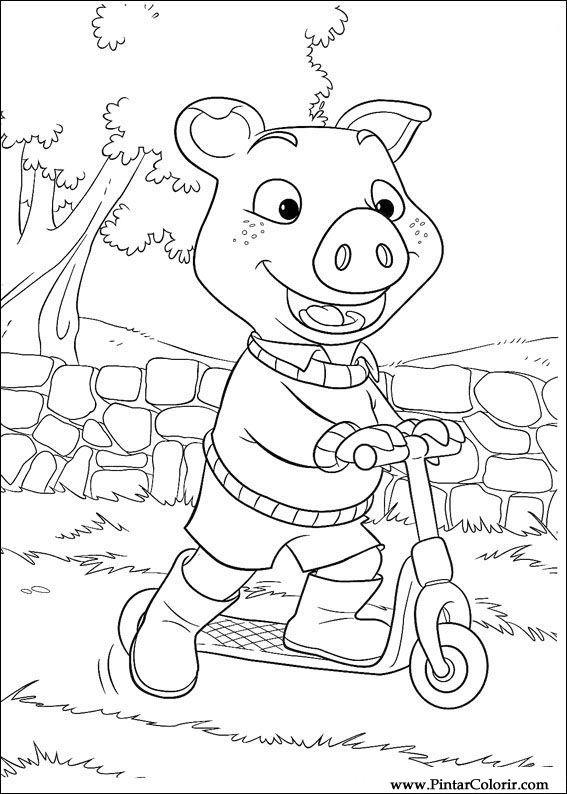 Dibujos para pintar y Color Piggley Winks - Diseño de impresión 039