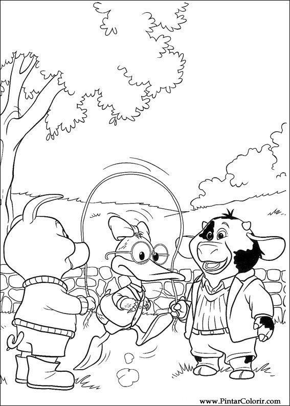 Dibujos para pintar y Color Piggley Winks - Diseño de impresión 041