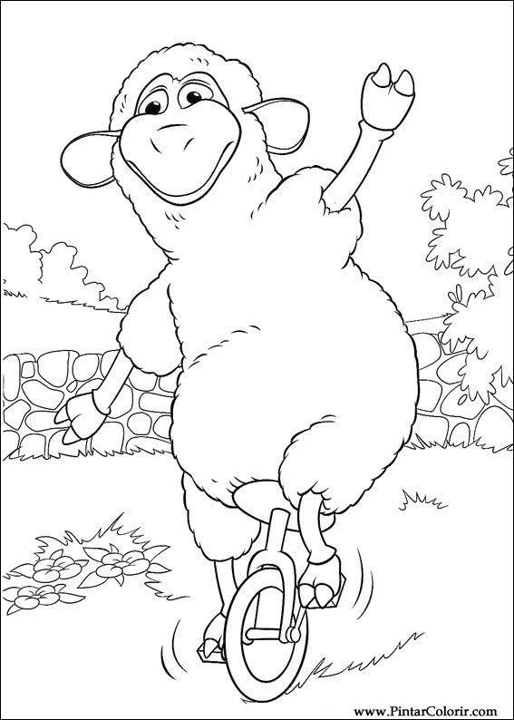 çizimler Boya Ve Renk Piggley Winks Için Baskı Tasarım 042