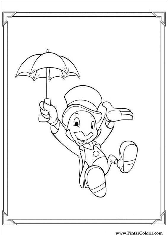 dibujos para pintar y color pinoquio diseño de impresión 009