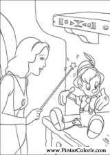 Pintar e Colorir Pinoquio - Desenho 016