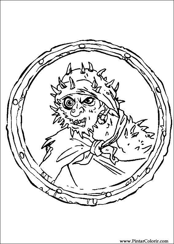 Pintar e Colorir Piratas Do Caribe - Desenho 003